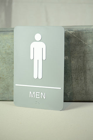 "6"" x 9"" Men's Restroom Sign"