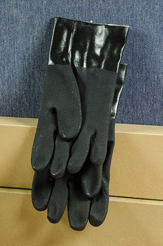 "12"" Black PVC Coated Glove"