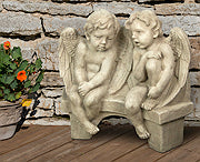 Li'l Angels Talking On Bench
