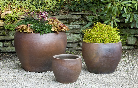 Campania International Kon Tum Planter - Set of 3