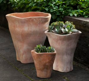 Campania International Foxglove Tall Planter - Set of 3
