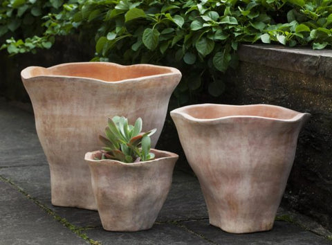Campania International Foxglove Short Planter - Set of 3