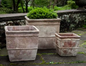 Campania International Antico Square Planter - Set of 3