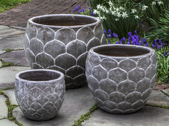 Campania International Pina Planter - Set of 3