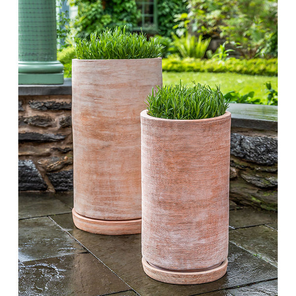 Campania International Sgraffito Tall Planter - Set of 2