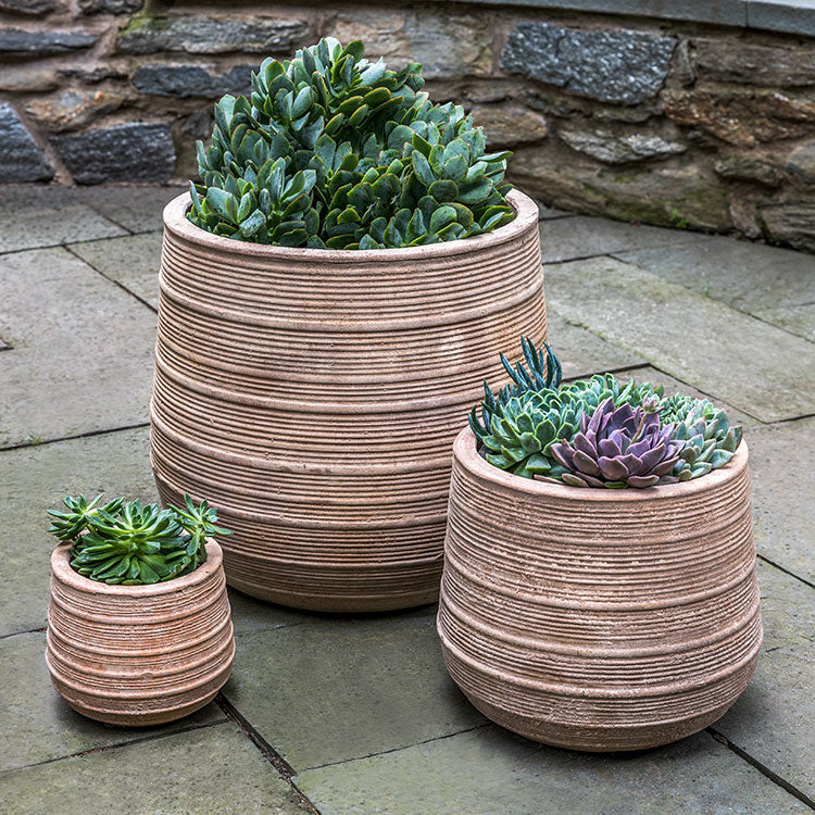 Campania International Madera Planter - Set of 3