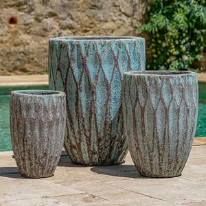Campania International Tortona Planter - Set of 3