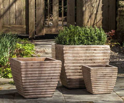 Campania International Ipanema Square Planter - Set of 3