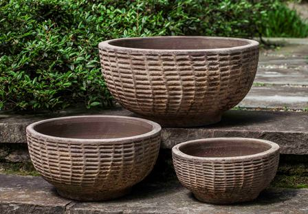 Campania International Antique Lattice Basket - Set of 3