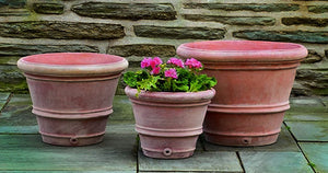 Campania International Classic Rolled Rim Planter - Set of 3