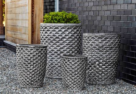 Campania International Tall Honeycomb Planter - Set of 4