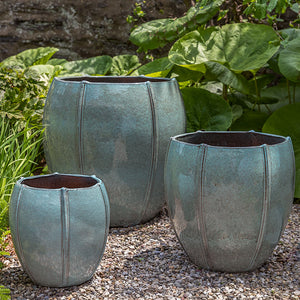 Campania International Rib Vault Planter - Set of 3