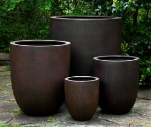 Campania International Bradford Round Planter - Set of 4