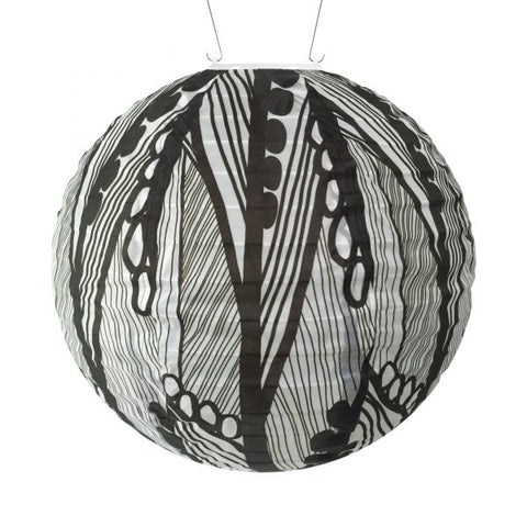 Soji Solar Lantern - Black and Seeds