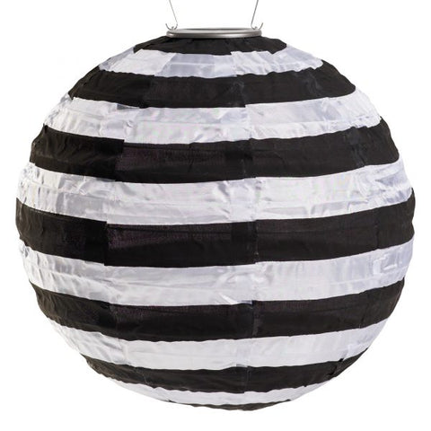 Soji Solar Lantern - Black and White Stripe