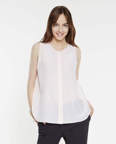 Geraldine Sleeveless Top Silk