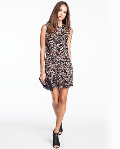 Linda Camo Jacquard Dress