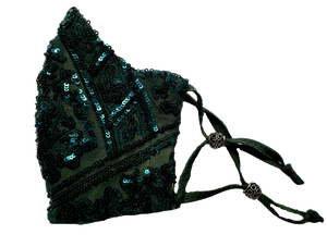 Empire Green Sequins Mask