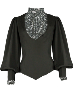 Renee W. Sequins Gun Metal Blouse