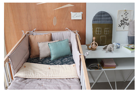 Hanako and Ash nursery bedding by Camomile london
