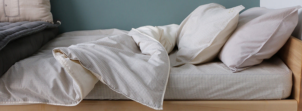 double check fitted bed sheet by Camomile london