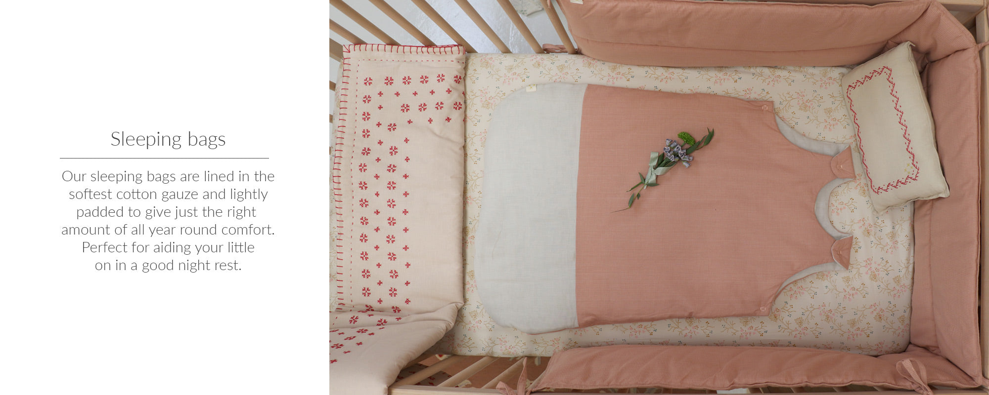 baby sleeping bags by camomile london