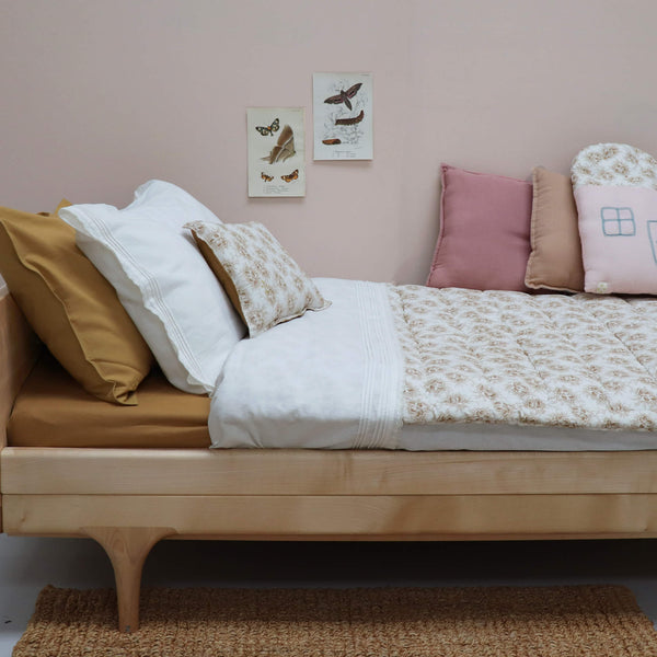 Pin Tuck Flat Sheet - Chalk