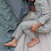 Blue Ticking Stripe Unisex Pyjama set