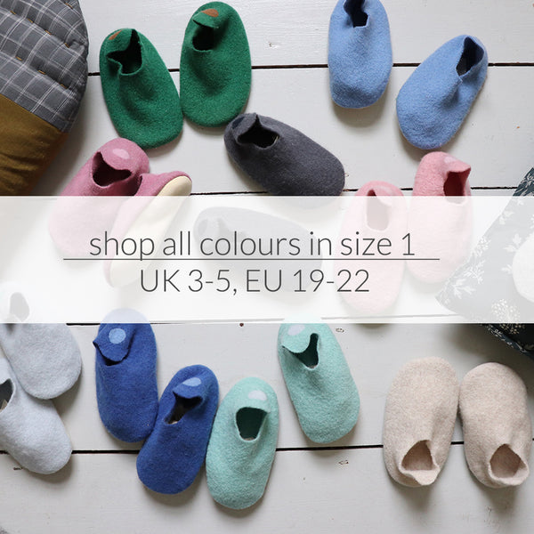 Size 1 Slippers, UK 3-5, EU 19-22