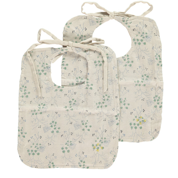 Floral muslin bibs by camomile london