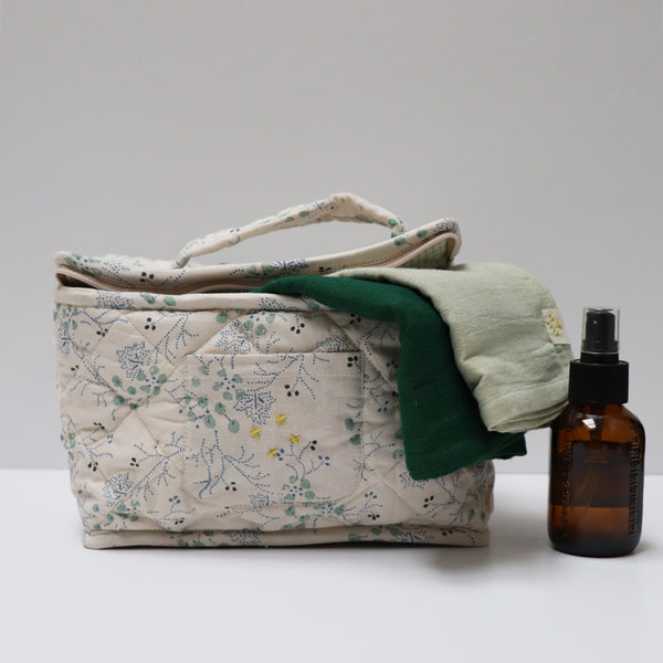 Beauty/Toiletry Bag in Minako Cornflower