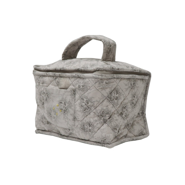 Beauty/Toiletry Bag in Spot Floral Chocolate