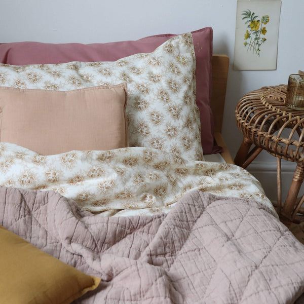 Spot Floral Ochre Pillowcase