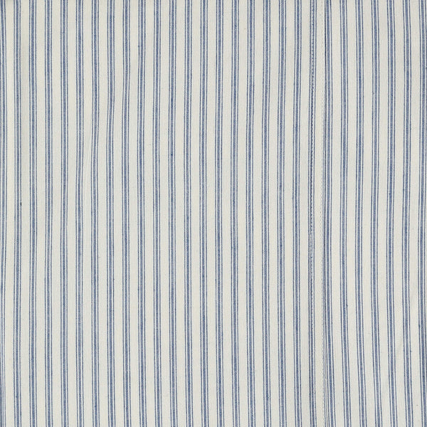 Blue Ticking Stripe Fitted Sheet