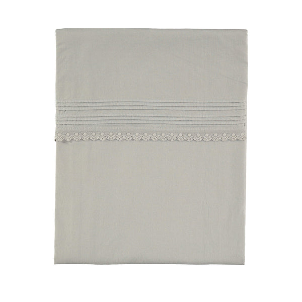 Pin Tuck Embroidered Duvet Cover - Feather Grey