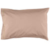 Light mink leaf embroidered pillowcase in 100% soft cotton bedding by camomile london