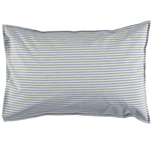Blue Ticking Stripe Pillowcase