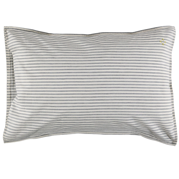 Charcoal Ticking Stripe Pillowcase