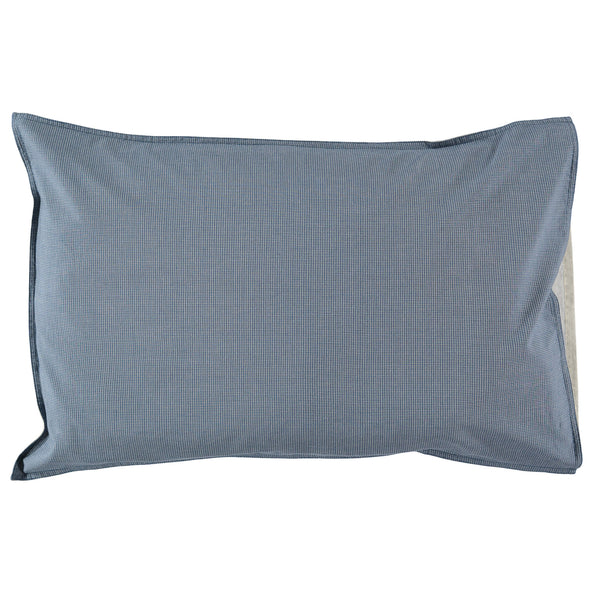 Mini Check Blue Pillowcase