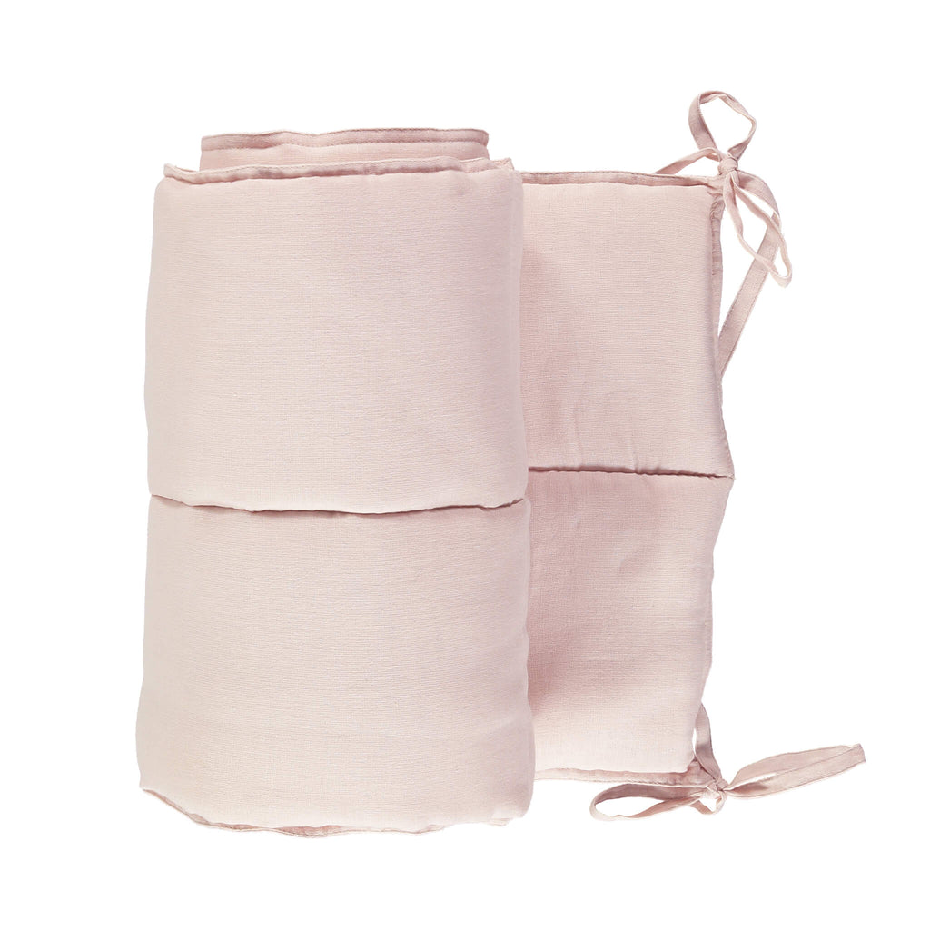 Soft Cotton Gauze Bumper - Pink