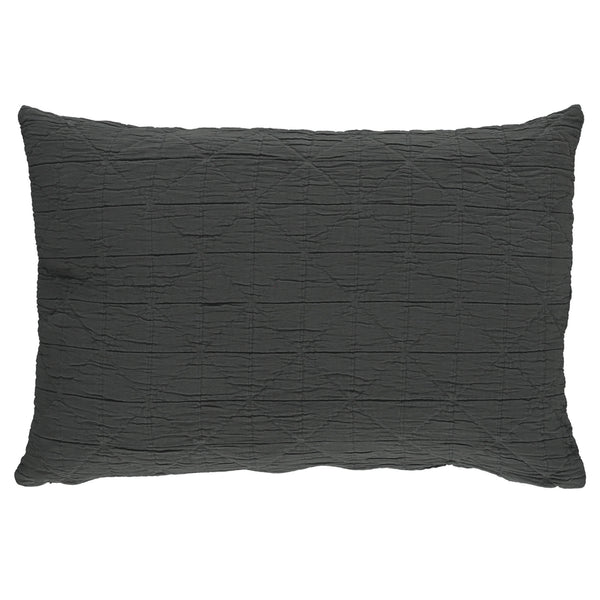 Diamond Soft cotton Pillow cover - charcoal available in 4 sizes