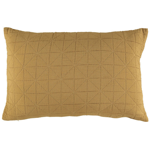 Diamond Soft cotton Pillow cover - Ochre available in 4 sizes