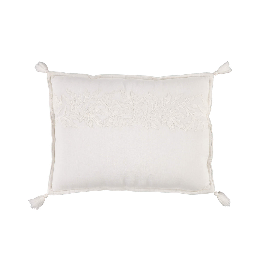 Ivy Chalk Small Embroidered Padded Cushion