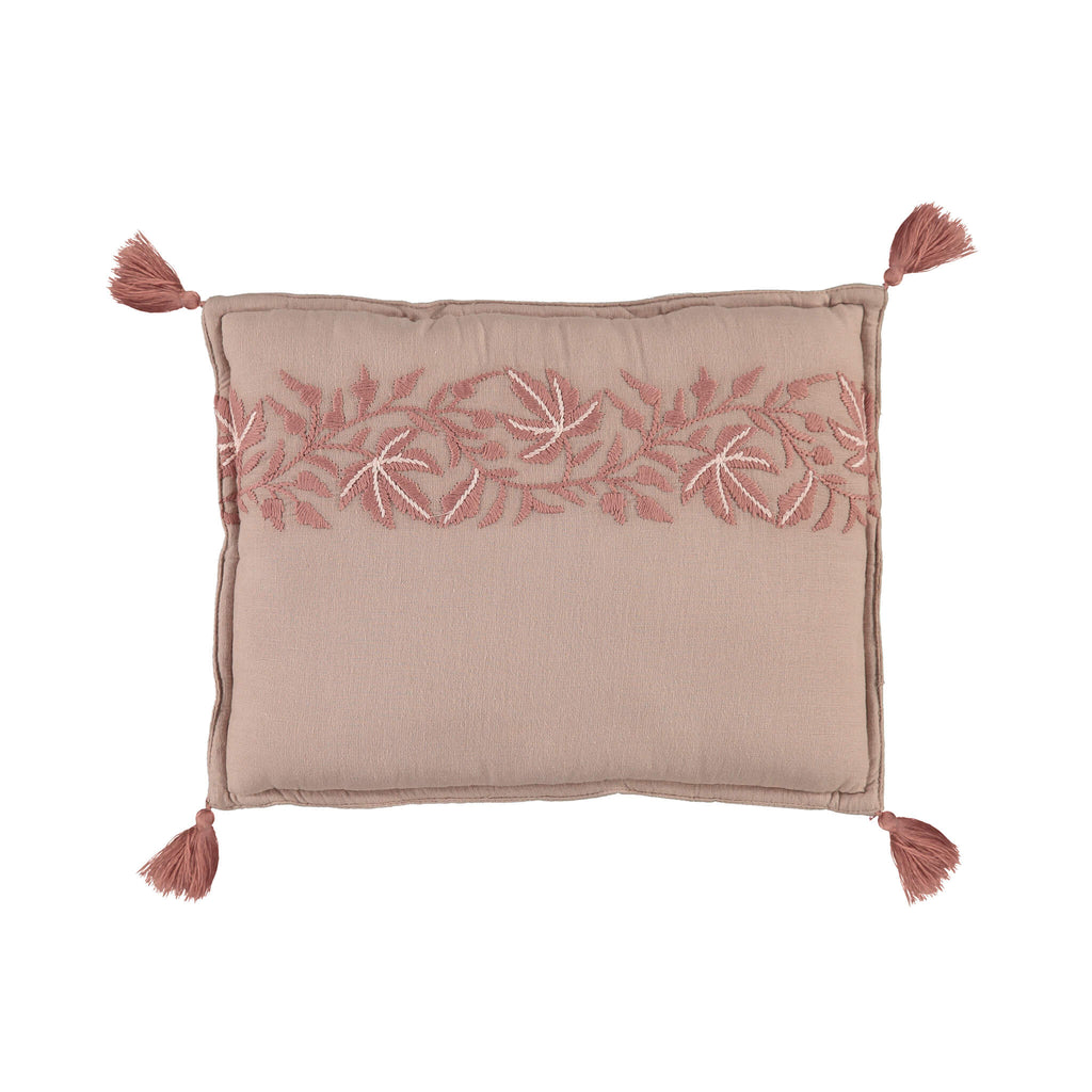 Ivy Mink Small Embroidered Padded Cushion