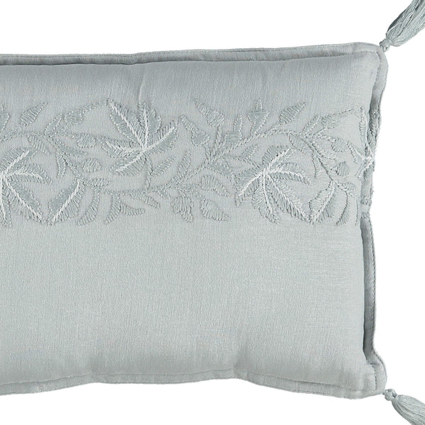 Soft Ivy leaf embroidered small cushion by camomile london