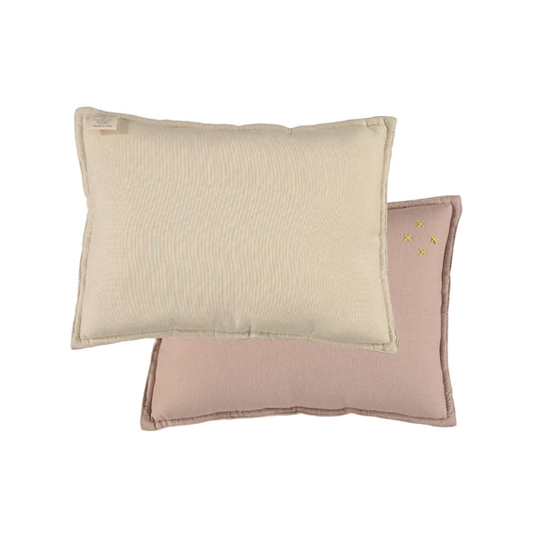Camomile Padded Cushion - Mink and Stone