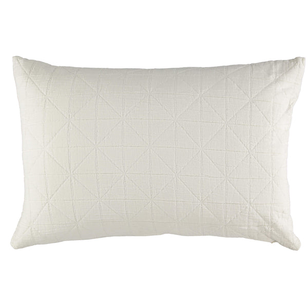 Diamond Soft cotton Pillow cover - White available in 4 sizes