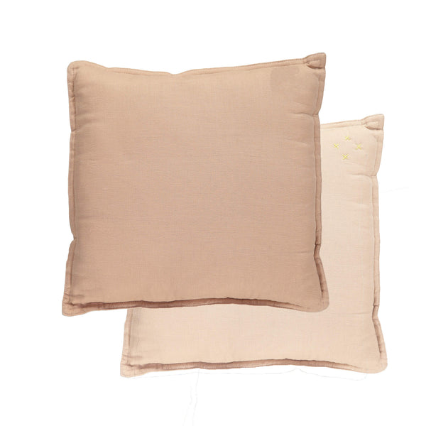Camomile Padded Cushion - Pink and Peach Blossom