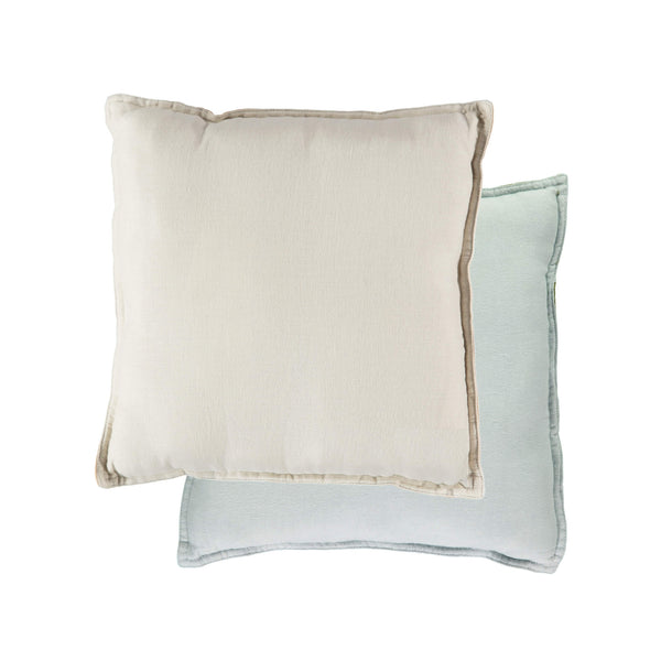 Camomile Padded Cushion - Powder Blue/stone