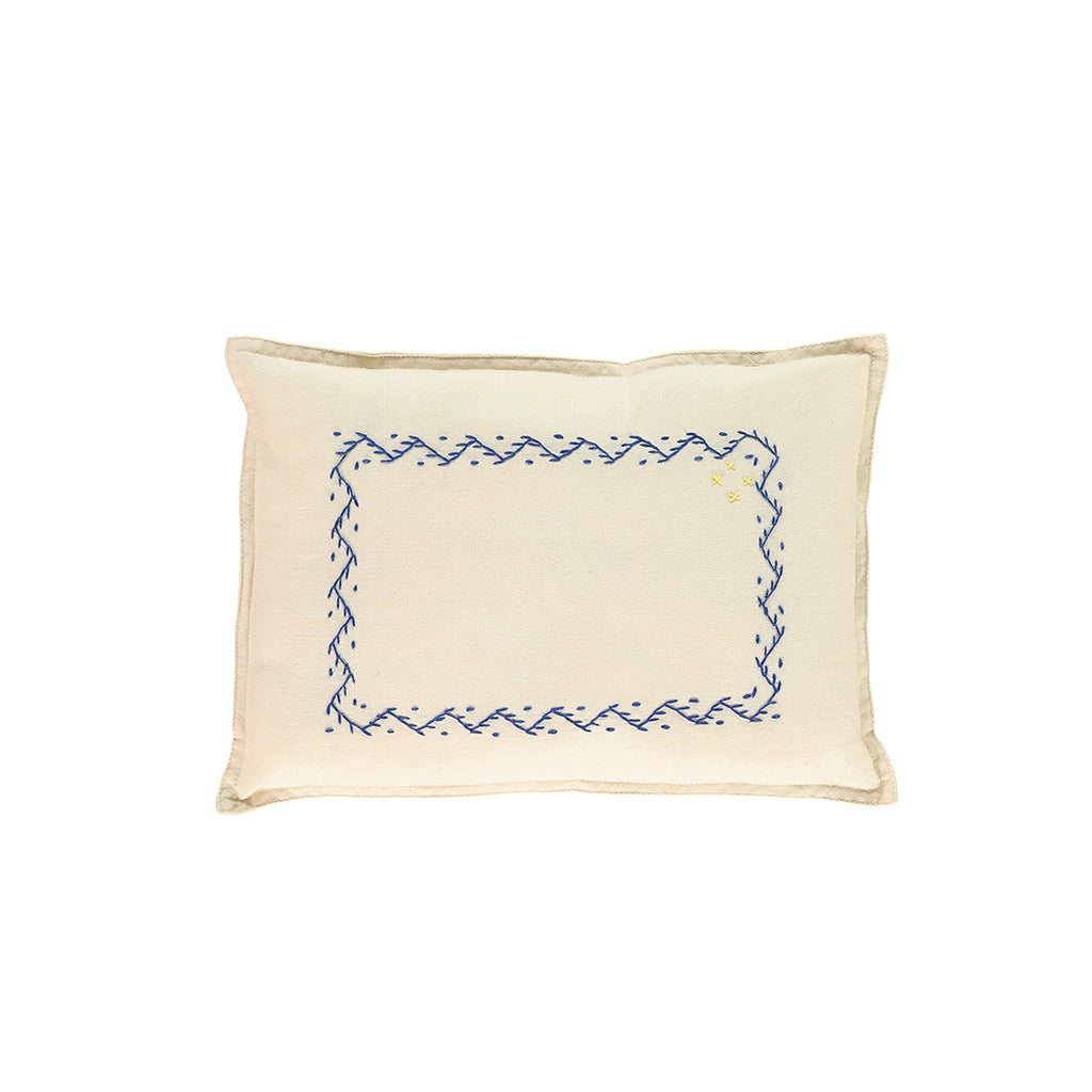 Hand embroidered Zig Zag Cushion